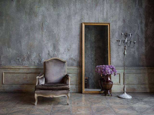 アンティークのミラーと鏡の画像