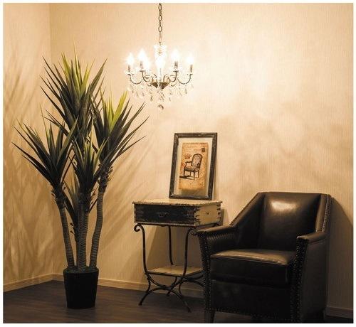 シャンデリア白熱球:シャンデリアの白熱球はお部屋全体に明るい光で照らしてくれます。