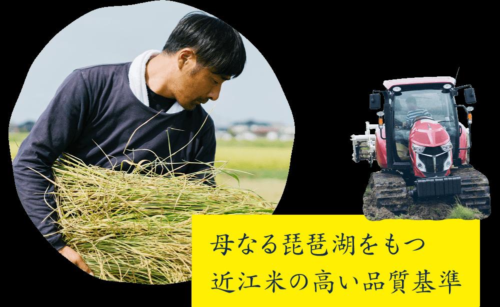 母なる琵琶湖をもつ近江米の高い品質基準