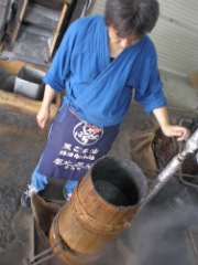 石臼式玉搾り法