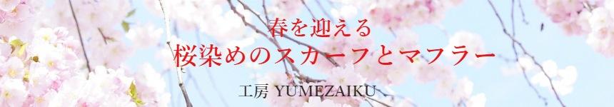 桜染めスカーフ