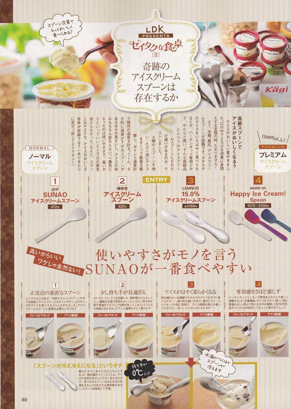 SUNAOアイスクリームスプーン