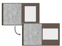 規格商品の中台紙組み込み変更例