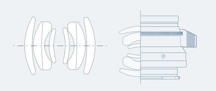 レンズ構成とMTF図