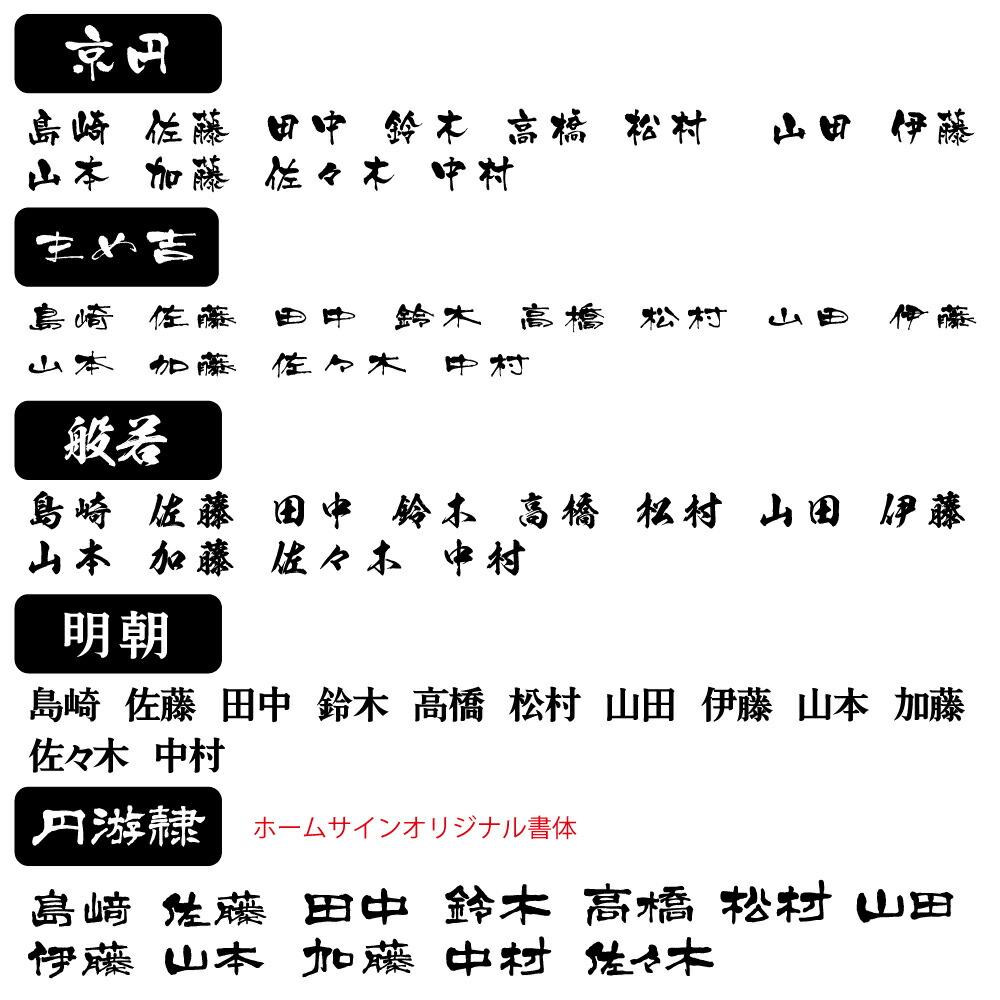 ステン文字-漢字(SK)書体