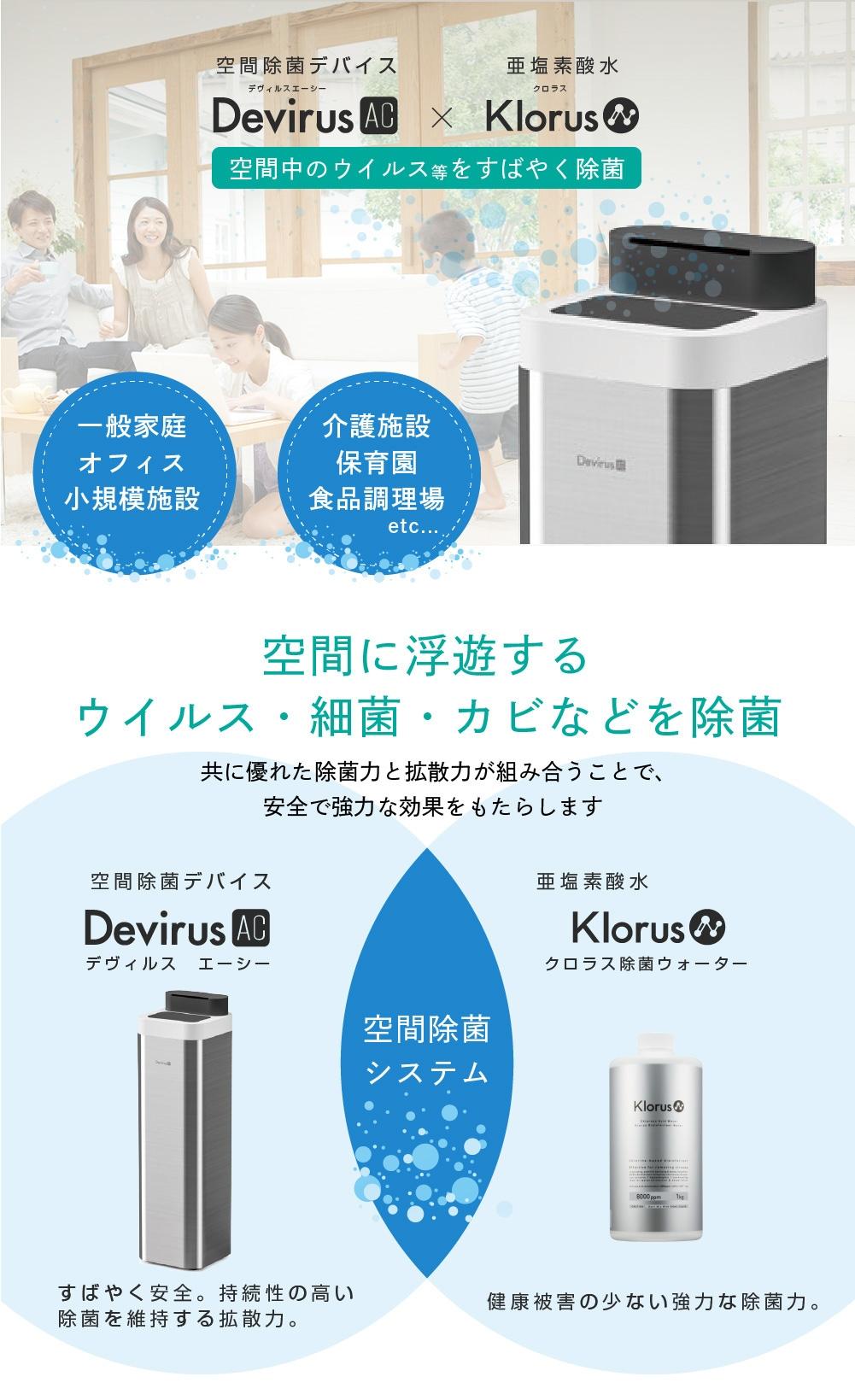 空間除菌デバイスDevirusAC