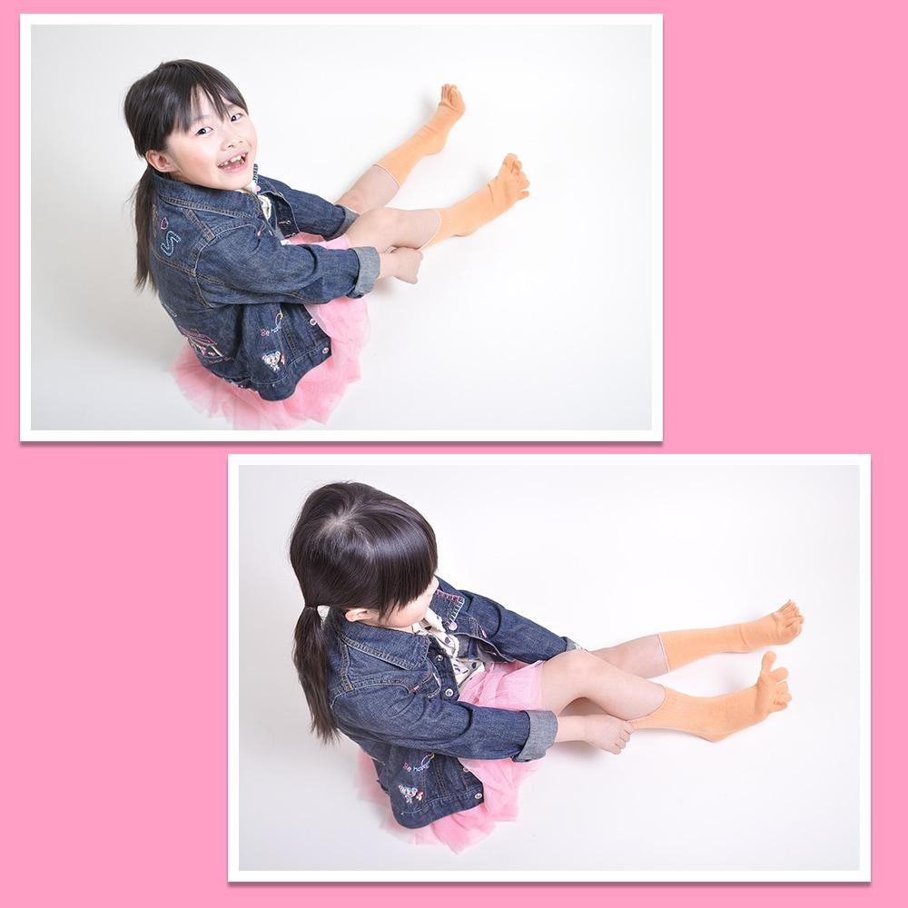 お子様の健康のために。  小さな子供を冷えから守る冷えとり靴下です。