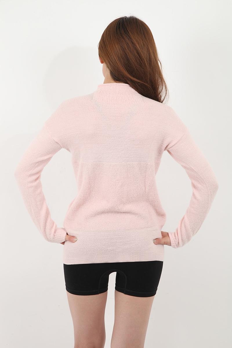 冷えとりインナーシャツ シルク&ウール ハイネック