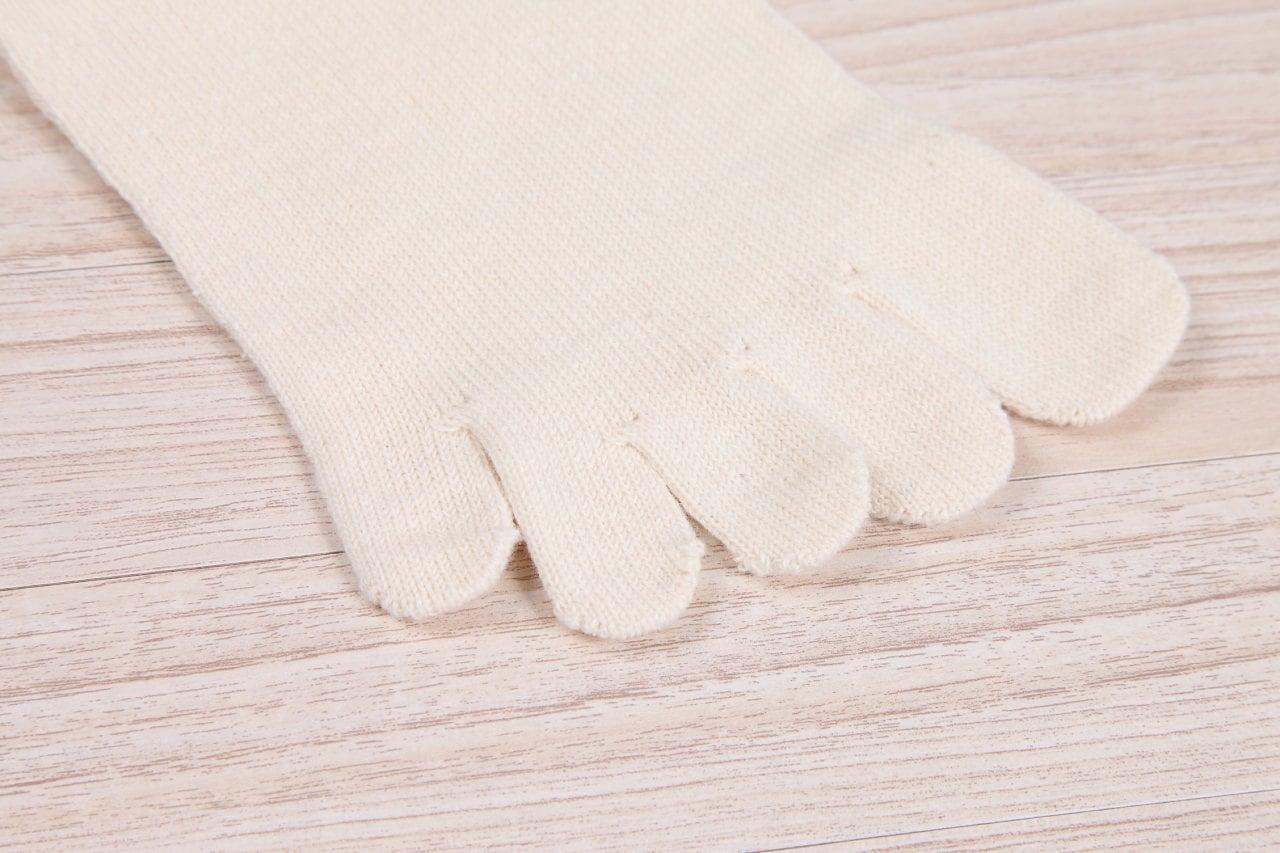 絹木綿5本指インナー