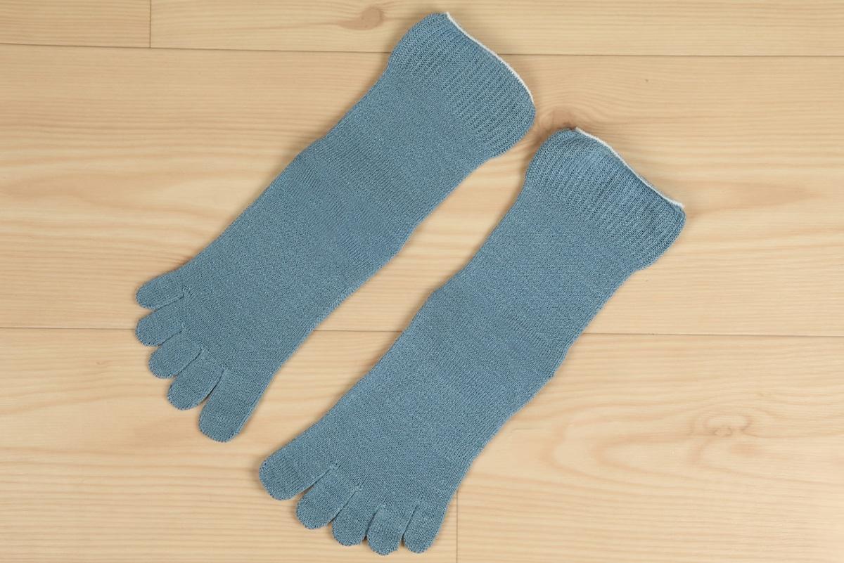 絹木綿5本指靴下ゴムなしタイプ