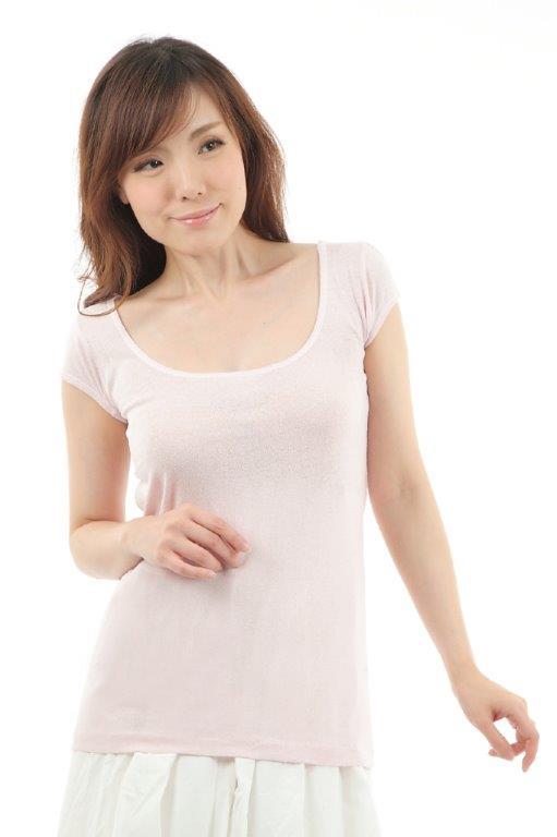 マシュマロ1分袖シャツ
