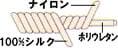 シルクのカバーリング糸