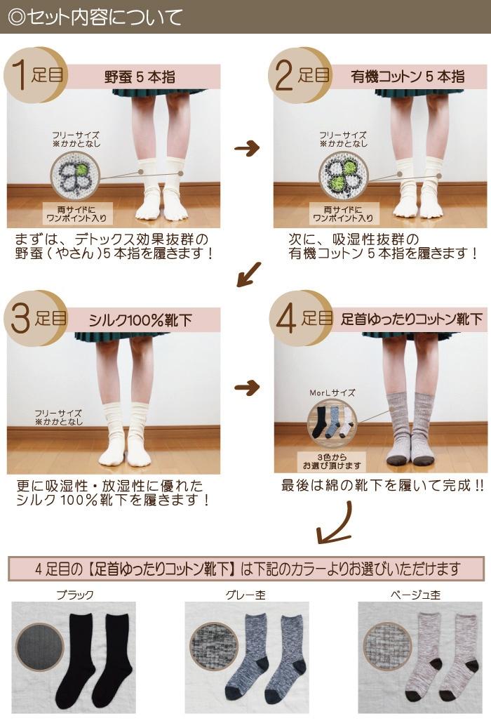 f811dca570169 野蚕冷えとりセット|冷えとり靴下の通販ショップ(株)シルク生活
