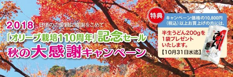 2018 秋の大感謝キャンペーン