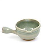 大堀相馬焼 松永窯 納豆鉢(青ひび)