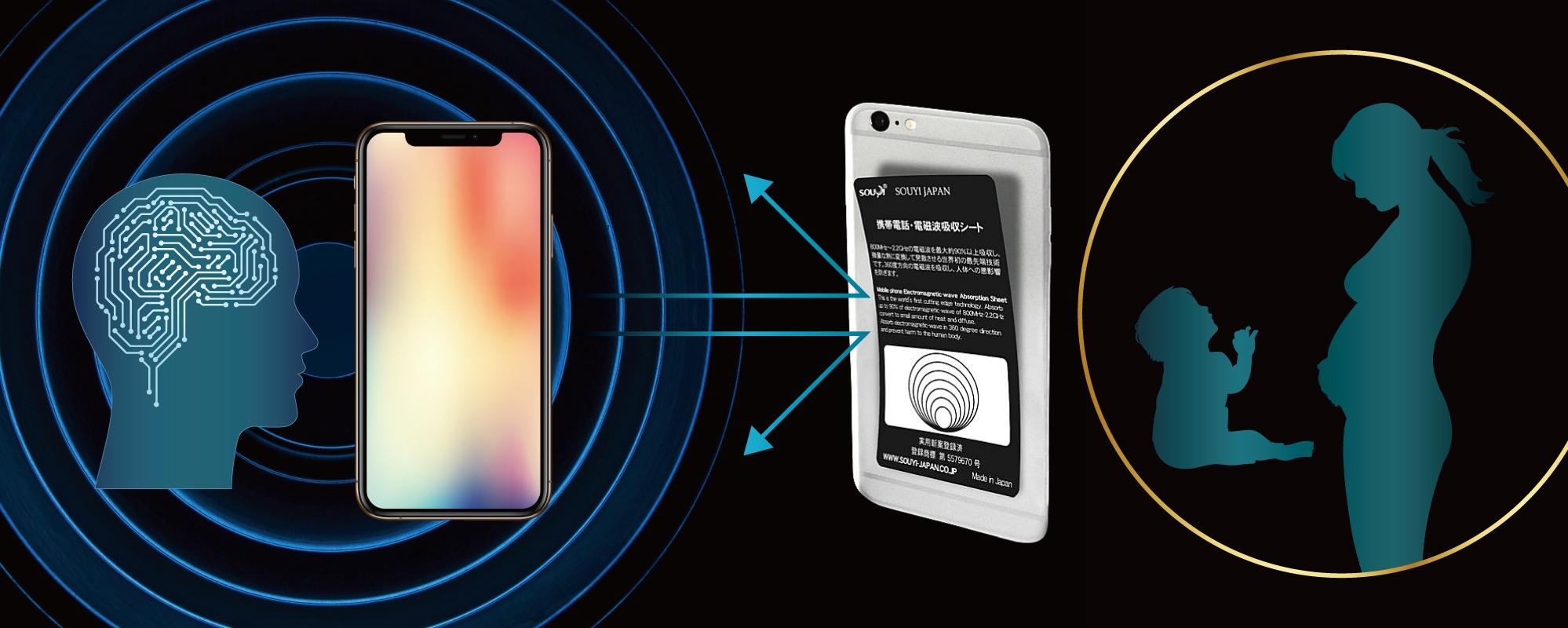 日本製 まとめ買い 電磁波防止シート 360度 最大90%吸収 世界的な検査機関で評価 スマホ用 | 電磁波防止 電磁波 防止 電磁波カット シート カット ケータイ グッズ スマホ スマートフォン シール 干渉 防止 干渉防止 5G  iPhone 12 iPhone 12 mini Apple