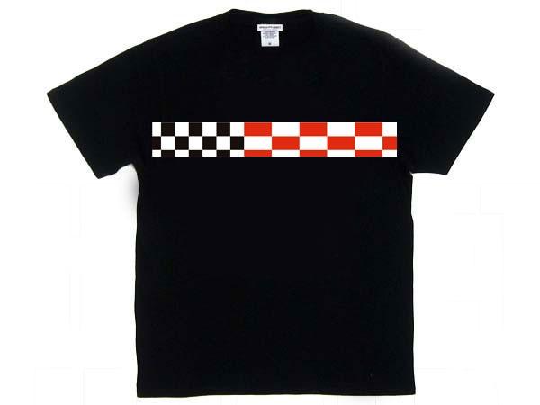 チェッカー プリントtシャツ