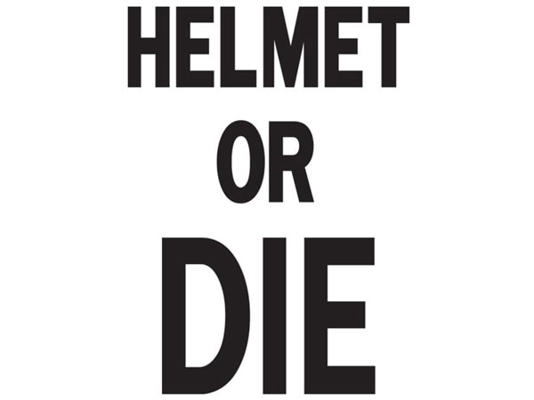 発泡プリント HELMET OR DIE T-shirt