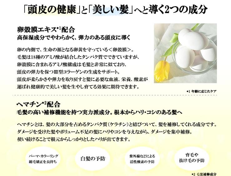 卵殻膜 ヘマチン説明