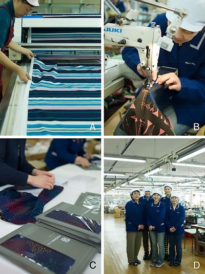 生地を裁ち、縫う Cutting & Sewing