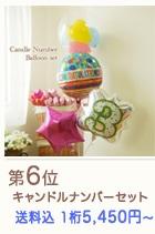 数字 バルーン 誕生日の祝電に です キャンドルナンバーセット