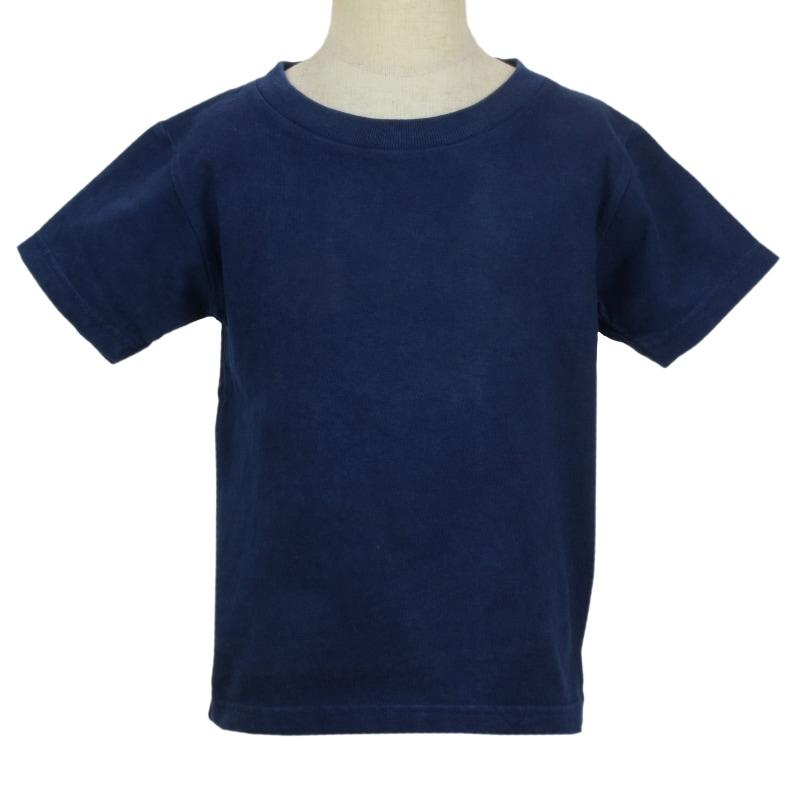キッズ ベビー 藍染め 半袖 Tシャツ 出産祝い 子供服 コットン 綿 濃紺 ネイビー ギフト プレゼント