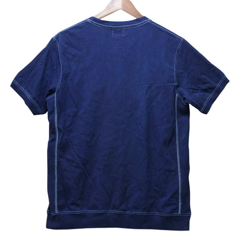 メンズ 藍染め サイドパネル 半袖 Tシャツ 肉厚 カジュアル アメカジ しっかり