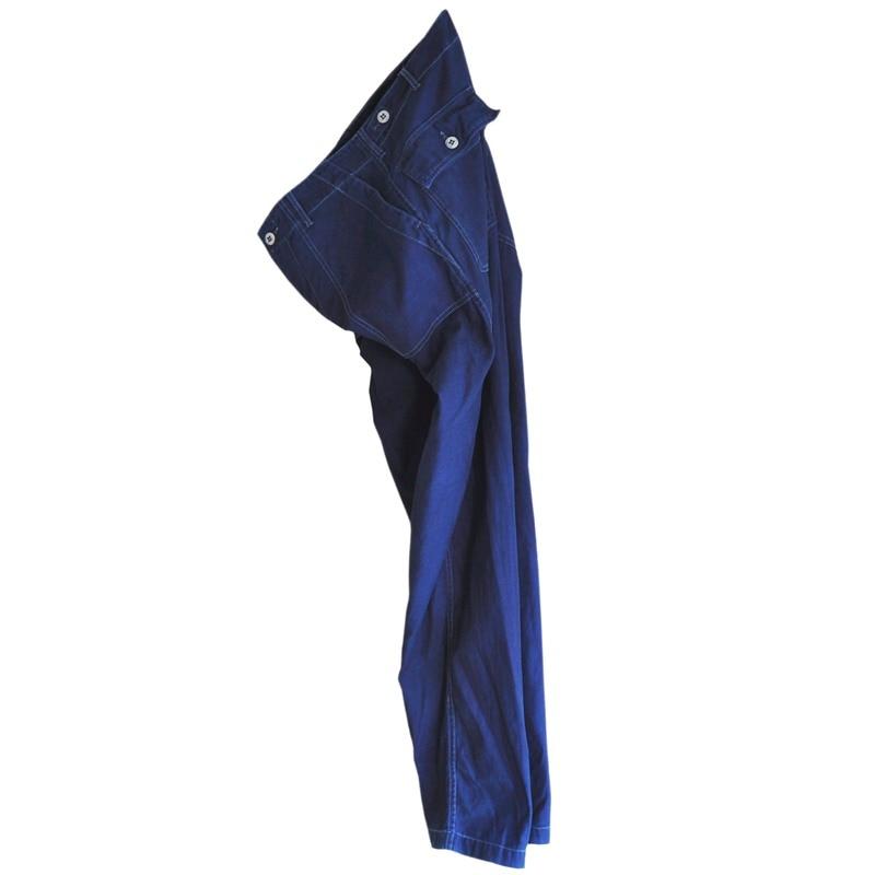 メンズ 藍染め ファティーグパンツ アーミー コットン ワークパンツ 綿