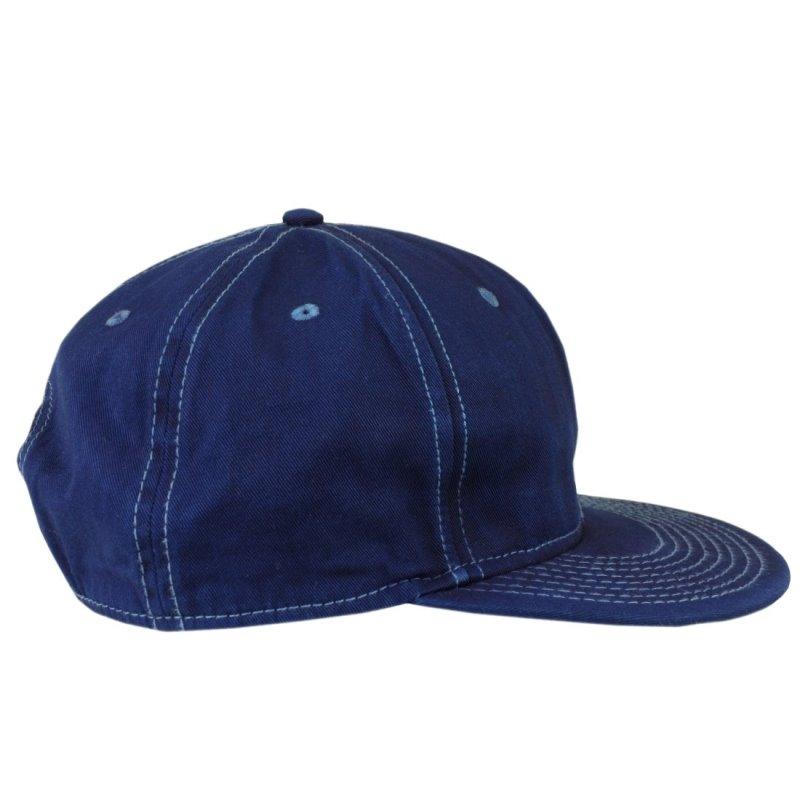 藍染め キャップ 帽子 CAP フラットバイザー コットン メンズ レディース しっかり 綿