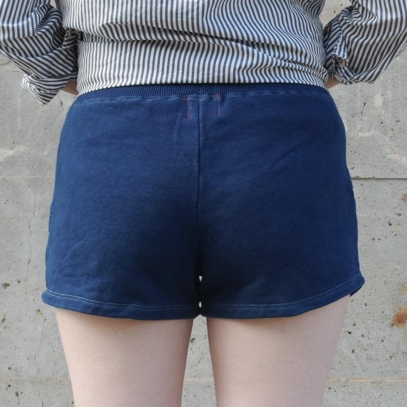 レディース 藍染め スウェット ショートパンツ コットン 可愛い ベリーショート