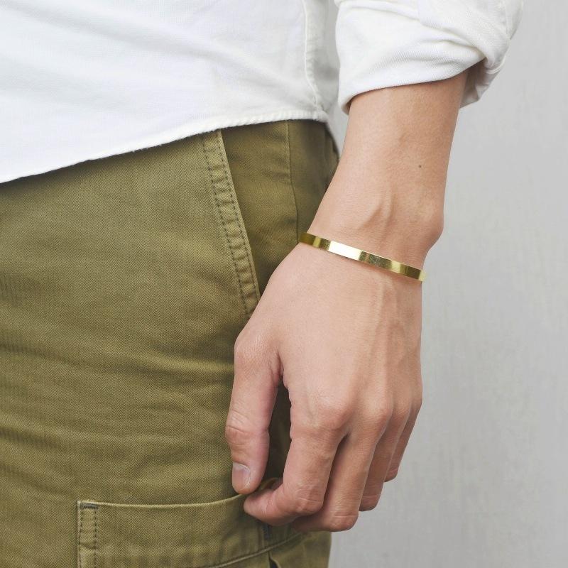 真鍮 生地 バングル 細 ブレスレット ゴールド バングル 可愛い 高級感 お洒落 プレゼント ギフト