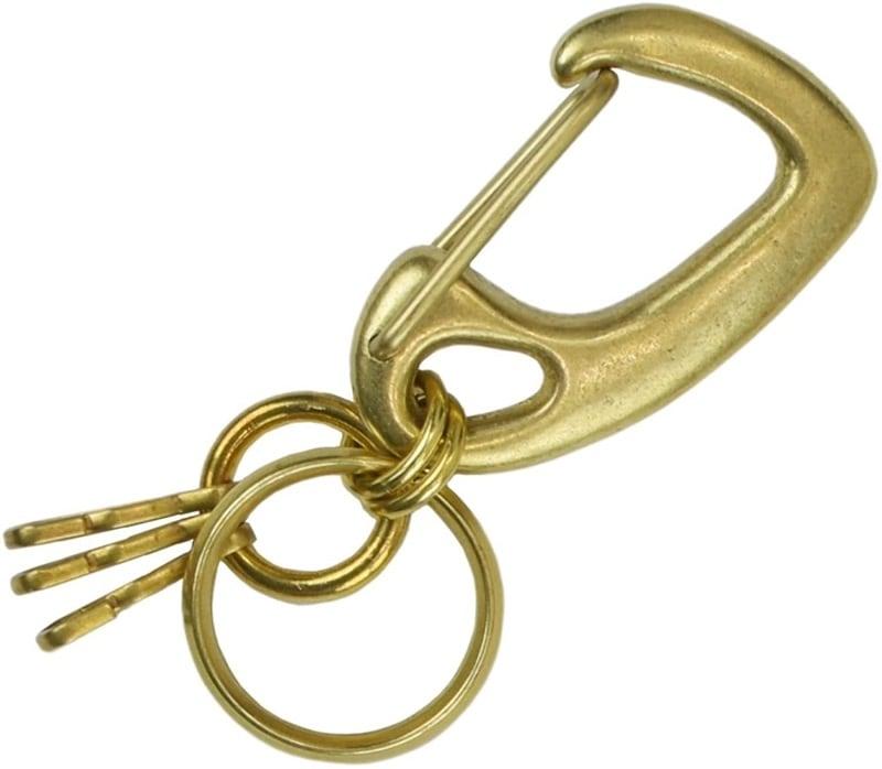 真鍮 生地 キーホルダー 鍵 キーケース キーリング ゴールド ヨットナスカン レバーナスカン ベルトフック カラビナ 重厚感 高級感