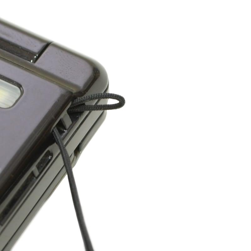 携帯ストラップ ナイロン コード 紐 ナイロン芯入り 0.8mm 松葉紐 黒 ストラップ 丸紐 カメラストラップ