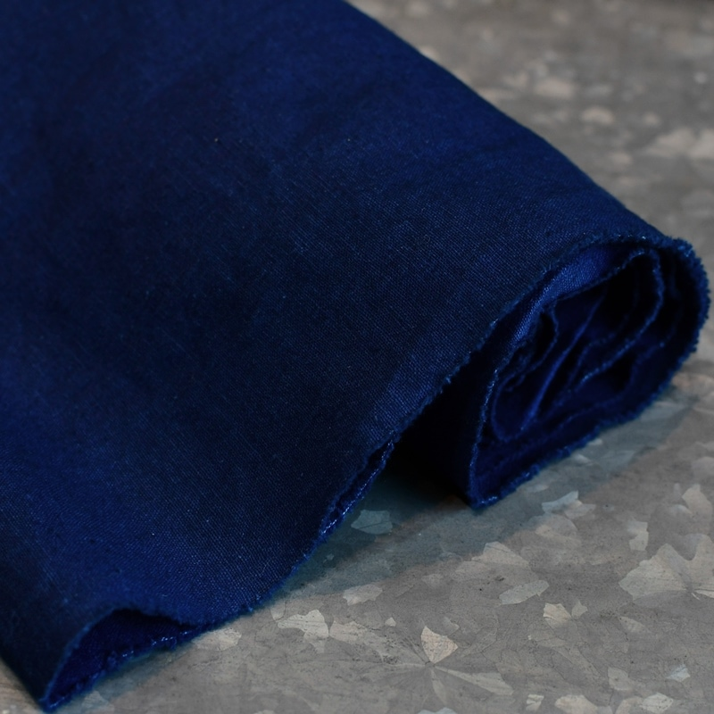 インディゴ コットン リネン レザー キャンバス トートバッグ 綿 麻 帆布 ヌメ革