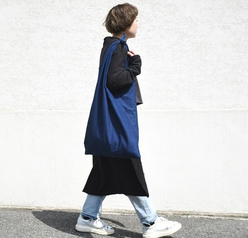 インディゴ コットン リネン レザー キャンバス 袈裟 ショルダーバッグ 綿 麻 帆布 トートバッグ 大きい 可愛い