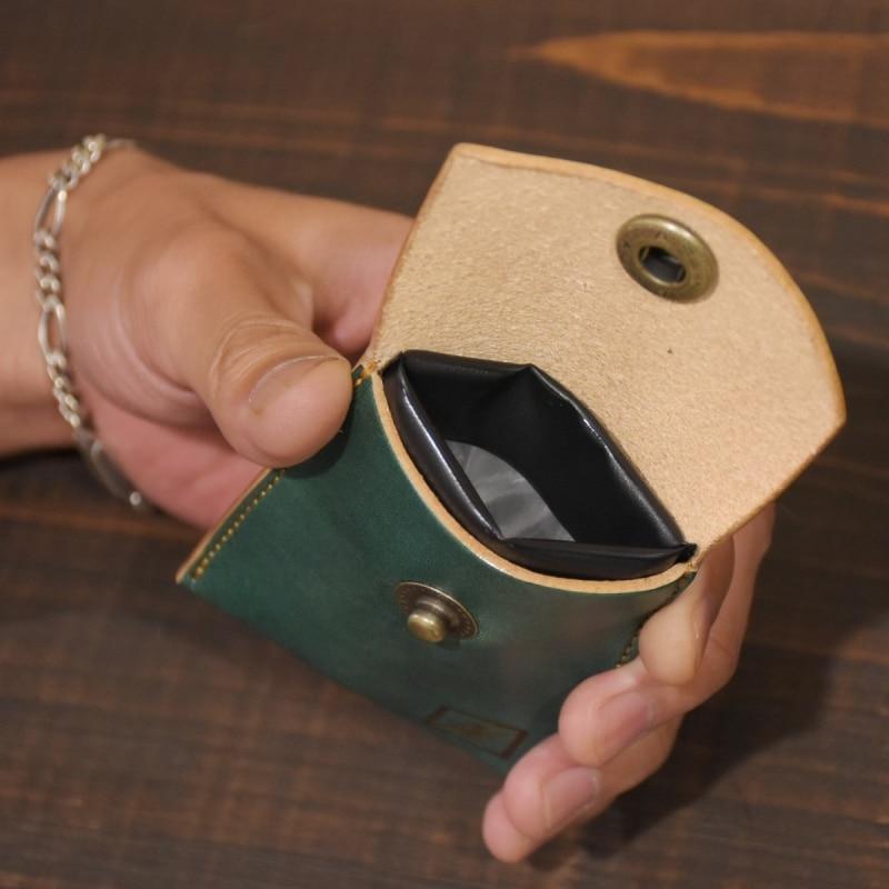 名入れ 刻印 ヌメ革 携帯灰皿 レザー携帯灰皿 プレゼント フック アッシュトレイ マナー ギフト スマート