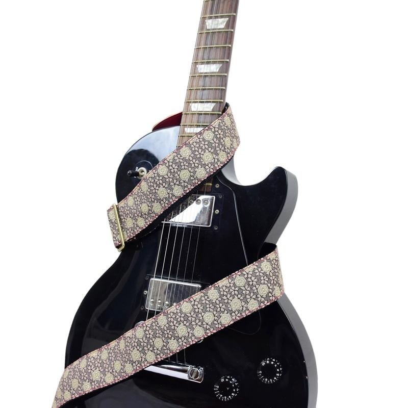 ギターストラップ 畳縁 和柄 花柄 19柄 桜 梅 ドット 菱 市松 guiter 唐草 菊 高級感 しっかり 織物 プレゼント ギフト