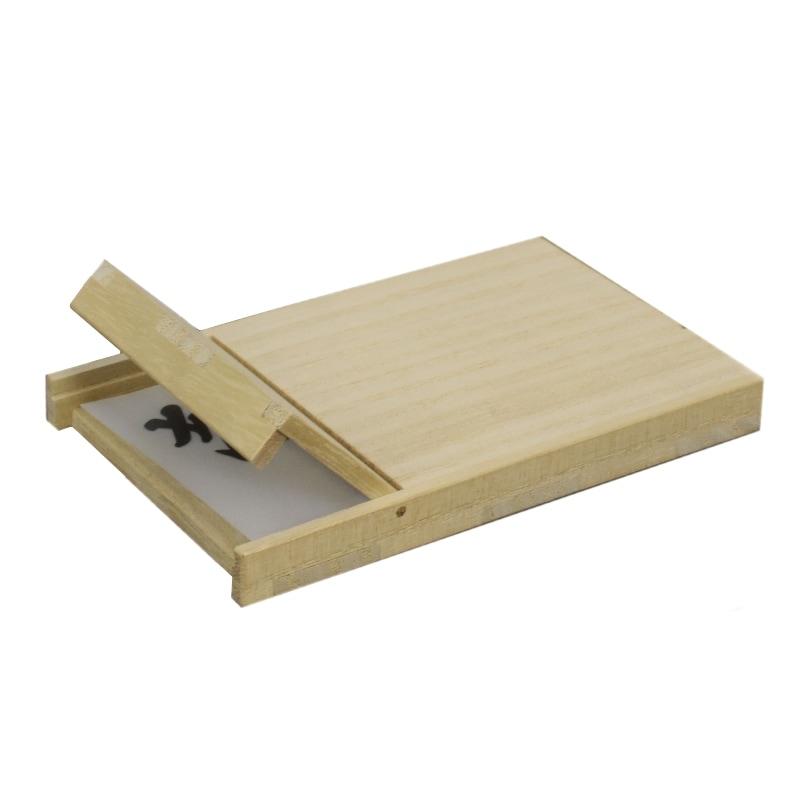 名刺ケース ウッド 木製カードケース フロントオープン 桐 マホガニー 可愛い プレゼント ギフト 温もり wood