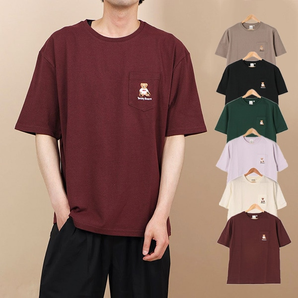 テディベア刺繍Tシャツ商品イメージ
