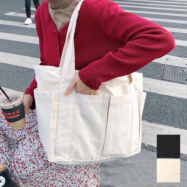 ポケット付きトートバッグの商品イメージ