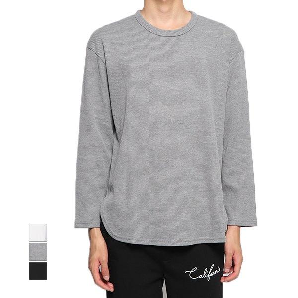 ワッフルロング丈長袖ビッグTシャツの商品イメージ