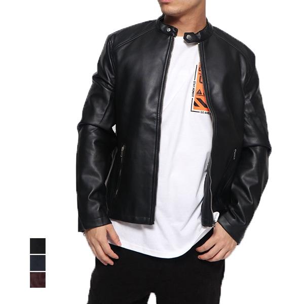 PUシングルライダースジャケットの商品イメージ