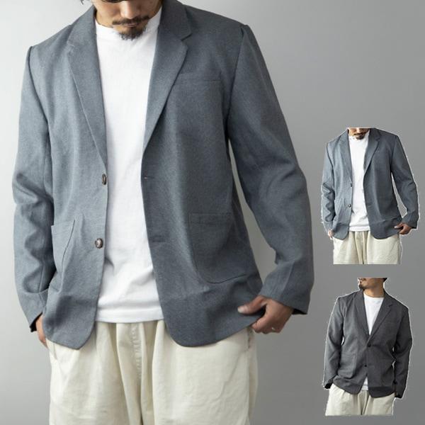 麻ライク杢テーラードジャケットの商品イメージ