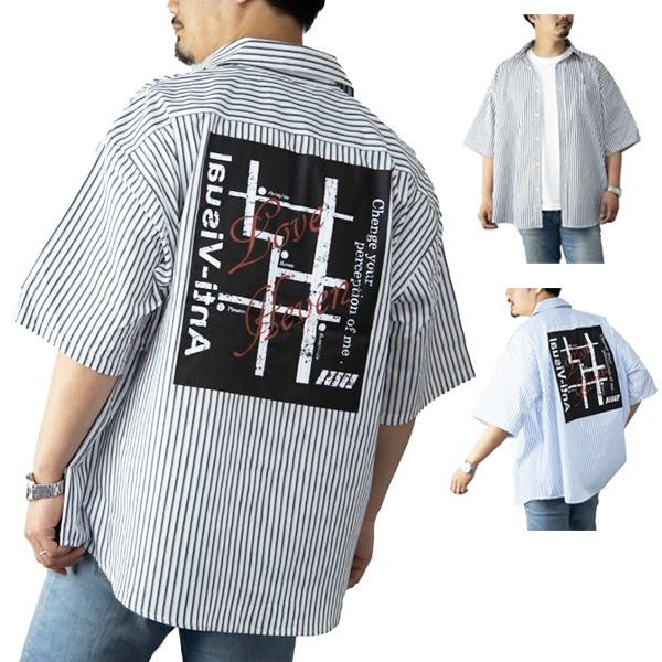 ストライププリントシャツの商品イメージ
