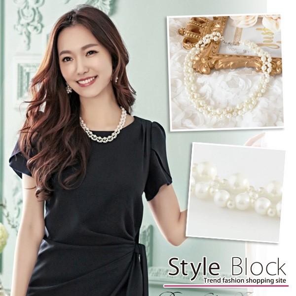 フェイクパールネックレスの商品イメージ