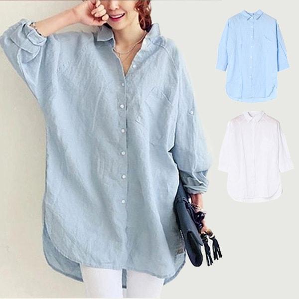 ロング丈シャツの商品イメージ