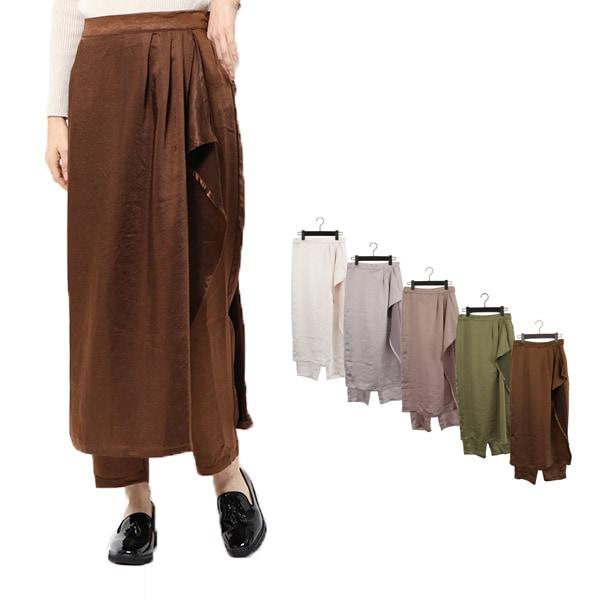 スカートレイヤードパンツの商品イメージ