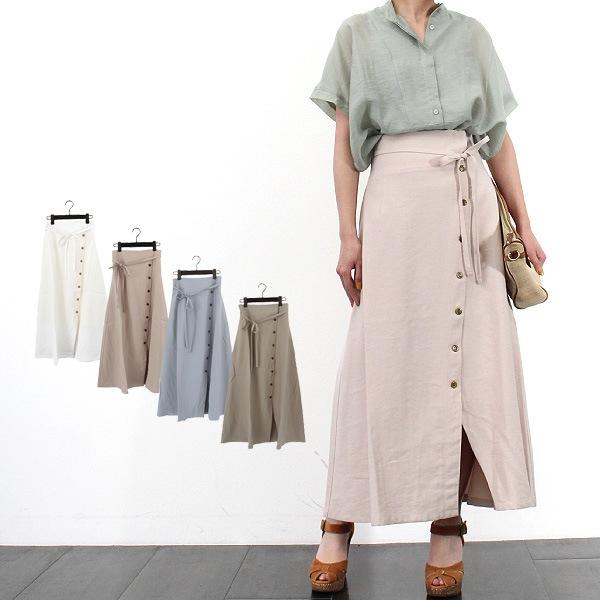 ウエストリボンラップスカートの商品イメージ