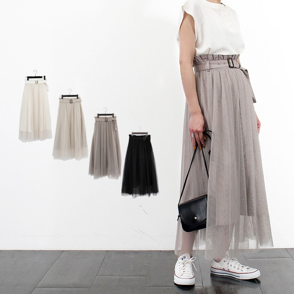 チュールドッキングスカートの商品イメージ