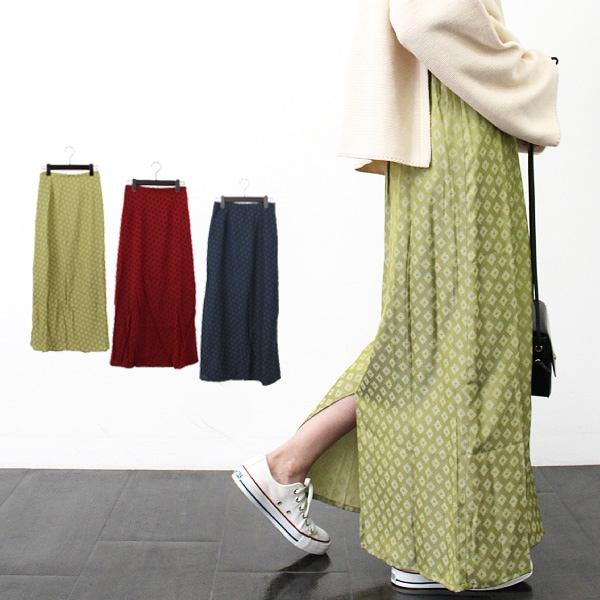 小紋柄マキシスカートの商品イメージ